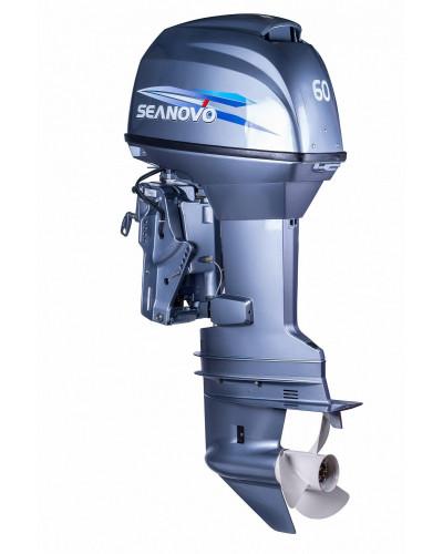 2-х тактный лодочный мотор Seanovo SN60FFEL-T(электроподъем)