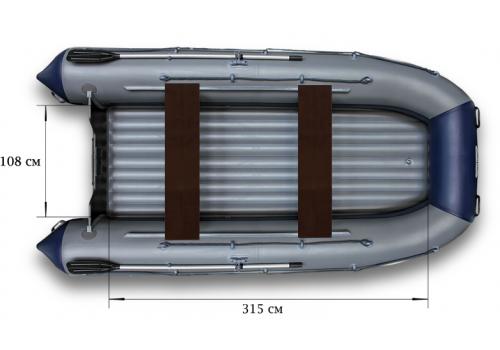 Надувная лодка ПВХ  ФЛАГМАН 420 К