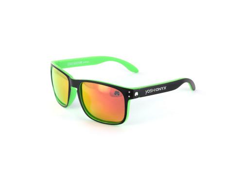 Очки поляризационные Yoshi Onyx зеленая оправа, оранжевые линзы
