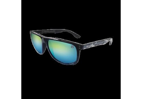 Очки поляризационные Yoshi Onyx дужки синий камуфляж, зеленые линзы