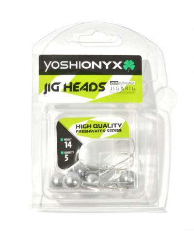 Джигголовка Yoshi Onyx JIG Bros Шар 1, вес 14г, 5шт. (крючок Gamakatsu)