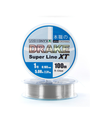 Леска Yoshi Onyx Drake Superline XT 100M 0.165mm Clear
