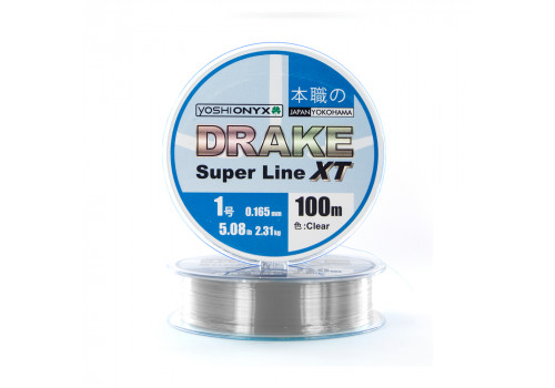 Леска Yoshi Onyx Drake Superline XT 100M 0.165mm Clear