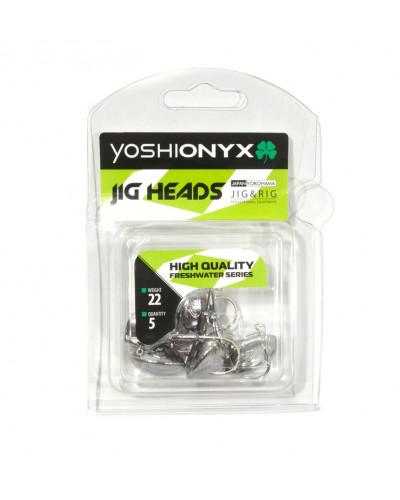 Джигголовка Yoshi Onyx JIG Bros каблучок, вес 33г, 5 шт. (крючок Gamakatsu)