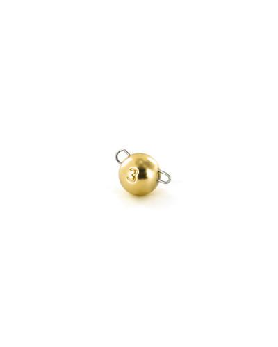 Чебурашка вольфрамовая Tsuribito Tungsten Weights Calibrated Jig Sinker, 3 г, 6 шт., цвет золото