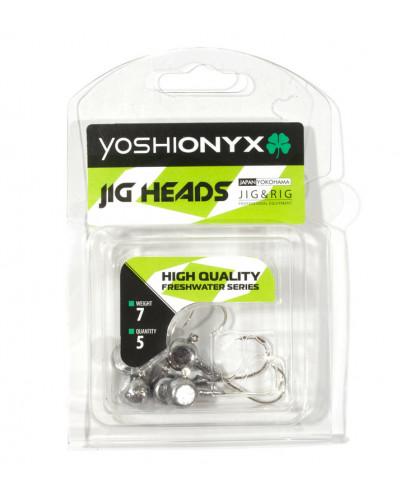 Джигголовка Yoshi Onyx JIG Bros Аспирин (крючок Gamakatsu), вес 17.5г, 5шт.
