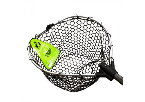 Подсачек TSURIBITO NET TRAP Fold c черной силиконовой сеткой, складной, длина 150см, диаметр 38см BKTO-38371501