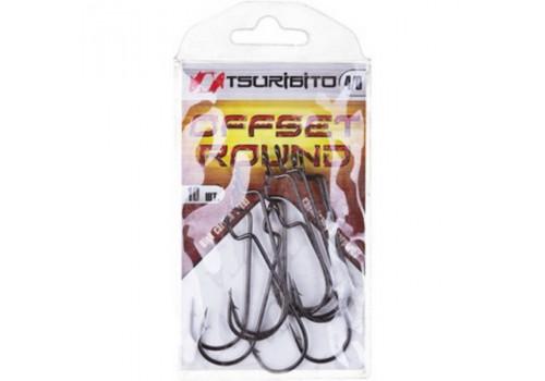 Крючки офсетные Tsuribito Offset Round Bend Worm №3/0 (BN)