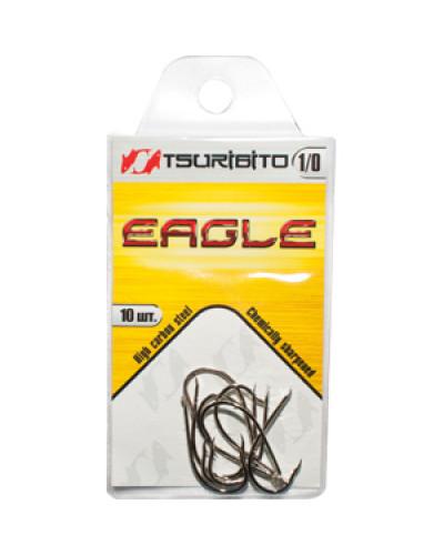 Крючки рыболовные Tsuribito Eagle №1/0 (в упак. 10шт.) (NI)