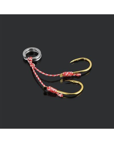 Крючки рыболовные Yoshi Onyx Dancing Hook #12, нити 2+2 см на заводном кольце #7