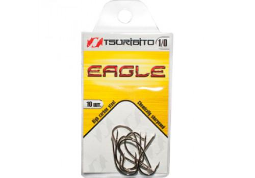Крючки рыболовные Tsuribito Eagle №1 (в упак. 10шт.) (NI)