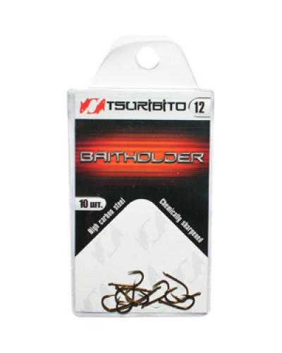 Крючки рыболовные Tsuribito Baitholder №6 (в упак. 10шт.) (BR)