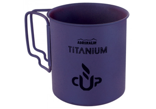 Титановая кружка со складными ручками Adrenalin Titanium Cup Purple